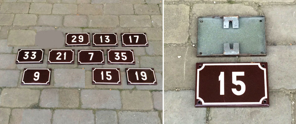 Antiques Other Antique Decorative Arts numbers 1-9 Available One Antique Cast Iron Railway Door Number Plaque