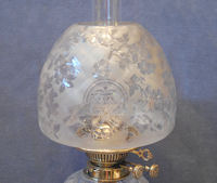 Oil lamps etched glass oil lamp shade os121 mozeypictures Choice Image