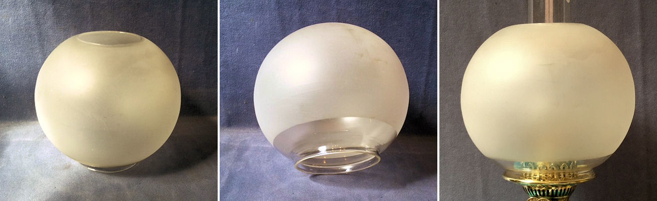 Oil lamps frosted glass oil lamp shade os132 aloadofball Image collections