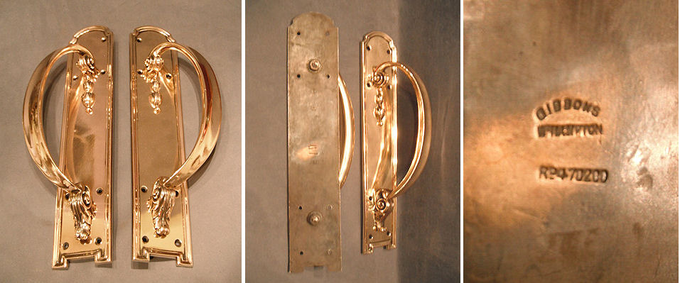 Www.belowstairs.co.uk/acatalog/Antique%20Pair%20of - Antique Brass Door Pulls Antique Furniture